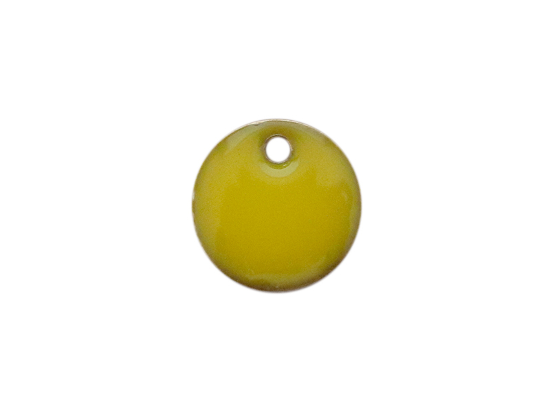 Acheter Breloque ronde émaillée - jaune - 0,59€ en ligne sur La Petite Epicerie - Loisirs créatifs