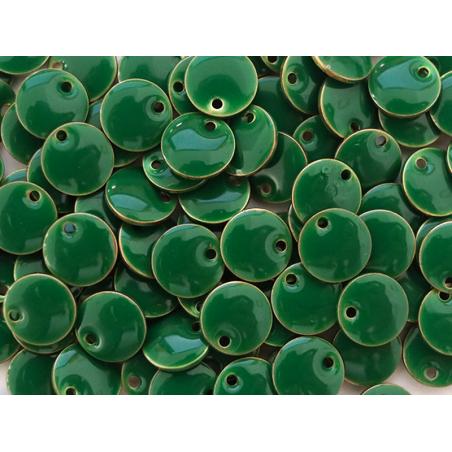 Acheter Breloque ronde émaillée - vert foncé - 0,59€ en ligne sur La Petite Epicerie - Loisirs créatifs