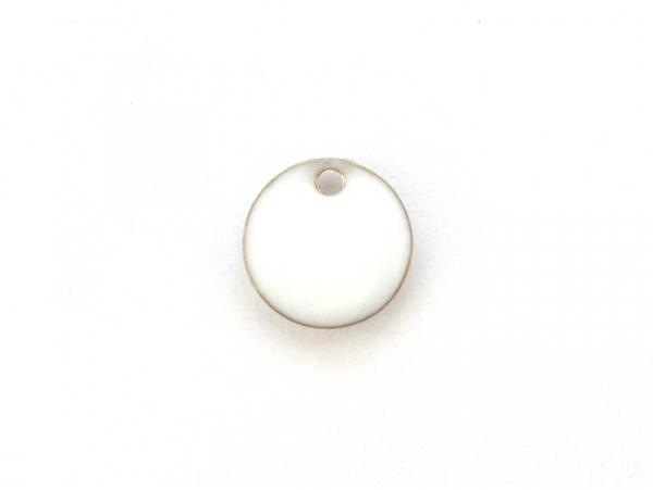 Acheter Breloque ronde émaillée - blanc - 0,59€ en ligne sur La Petite Epicerie - Loisirs créatifs