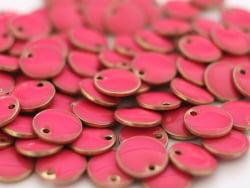 Acheter Breloque ronde émaillée - rose - 0,59€ en ligne sur La Petite Epicerie - Loisirs créatifs