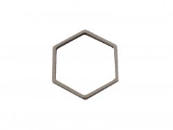 Pendentif hexagonal - argent