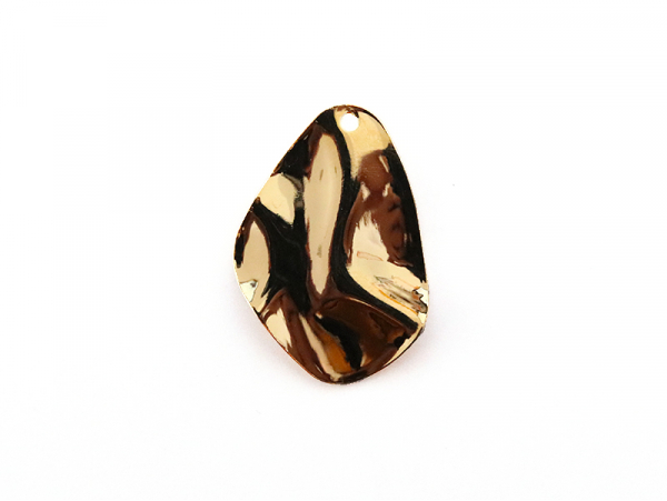 Acheter Pendentif ovale martelé - doré à l'or fin - 1,49€ en ligne sur La Petite Epicerie - 100% Loisirs créatifs