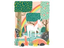 Affiche 20 x 25 cm - Licorne