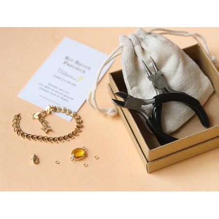 Acheter Bracelet Marion jaune - Kit bijoux précieux dorés à l'or fin - 13,90€ en ligne sur La Petite Epicerie - 100% Loisirs...