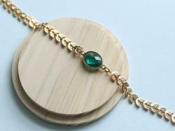 Acheter Bracelet Marion vert - Kit bijoux précieux dorés à l'or fin - 13,90€ en ligne sur La Petite Epicerie - Loisirs créatifs
