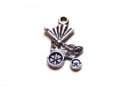 1 pram charm - silver-coloured