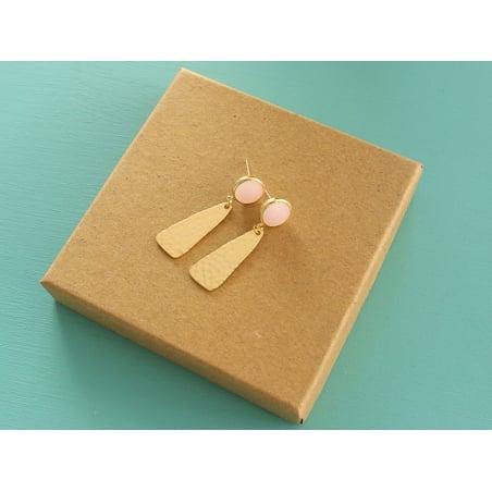 Acheter Boucles d'oreilles Raphaëlle rose - Kit bijoux précieux dorés à l'or fin - 13,90€ en ligne sur La Petite Epicerie - ...