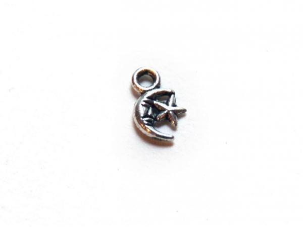 Acheter 1 Breloque star moon - argentée - 0,19€ en ligne sur La Petite Epicerie - 100% Loisirs créatifs
