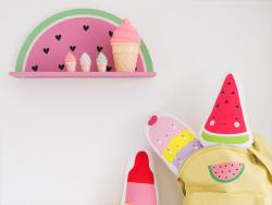 Acheter Etagère Pastèque - A Little Lovely Company - 13,99€ en ligne sur La Petite Epicerie - Loisirs créatifs