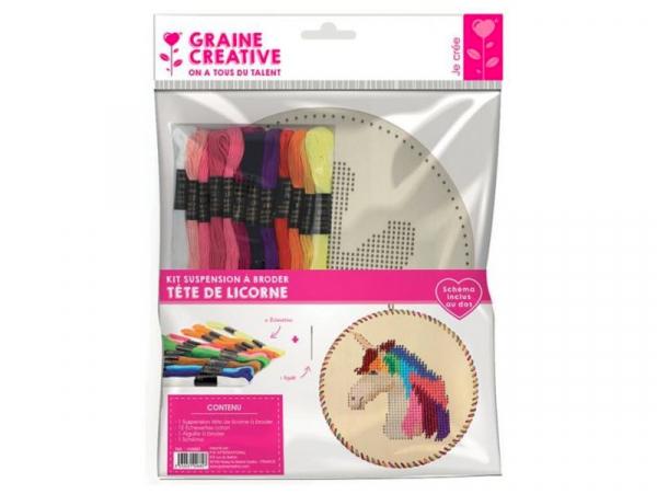 Acheter Kit suspension à broder - Licorne - 11,99€ en ligne sur La Petite Epicerie - Loisirs créatifs