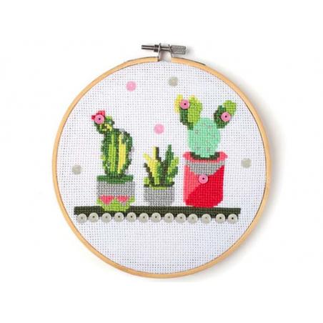 Acheter Kit Mon cadre à broder- Cactus - 14,99€ en ligne sur La Petite Epicerie - Loisirs créatifs