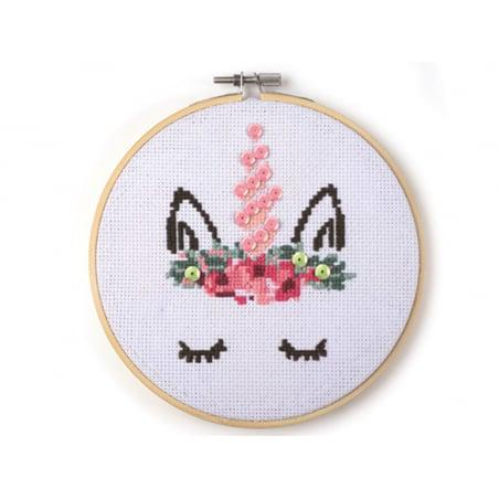 Acheter Kit Mon cadre à broder- Licorne - 14,99€ en ligne sur La Petite Epicerie - 100% Loisirs créatifs