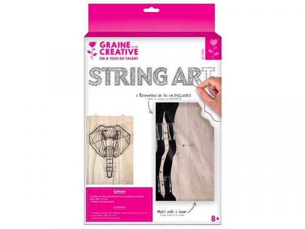 Acheter Kit string - tableau artistique éléphant - 12,99€ en ligne sur La Petite Epicerie - Loisirs créatifs
