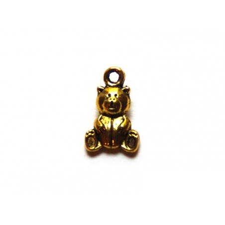 1 teddy bear charm - gold-coloured