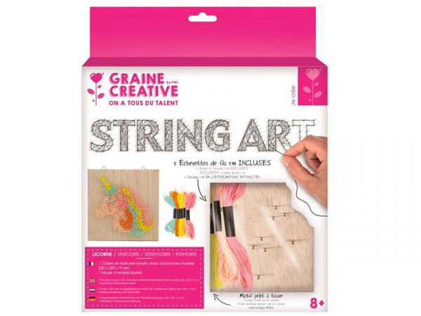 Acheter Kit string - tableau artistique licorne - 12,99€ en ligne sur La Petite Epicerie - Loisirs créatifs