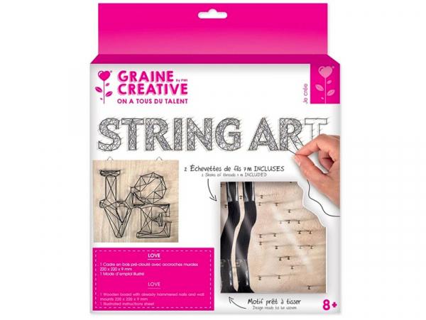 Acheter Kit string art tableau - LOVE - 8,99€ en ligne sur La Petite Epicerie - Loisirs créatifs