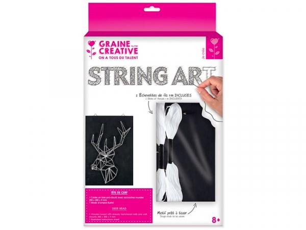 Acheter Kit string - tableau artistique cerf - 12,99€ en ligne sur La Petite Epicerie - 100% Loisirs créatifs