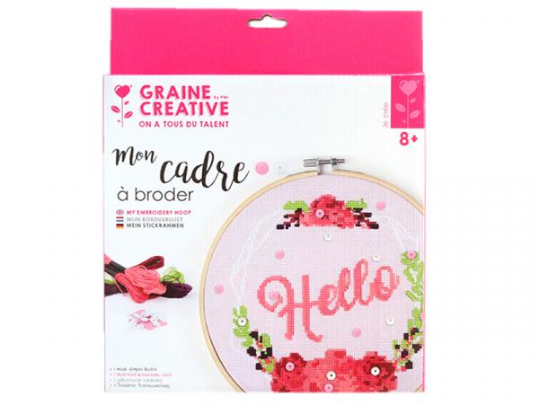 Acheter Kit Mon cadre à broder - Hello - 16,99€ en ligne sur La Petite Epicerie - 100% Loisirs créatifs