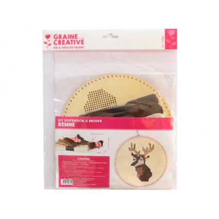 Acheter Kit suspension à broder - Renne - 11,99€ en ligne sur La Petite Epicerie - 100% Loisirs créatifs