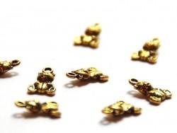 Acheter 1 Breloque nounours - dorée - 0,49€ en ligne sur La Petite Epicerie - 100% Loisirs créatifs