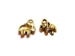 1 elephant charm - gold-coloured