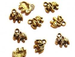 1 Breloque éléphant - dorée