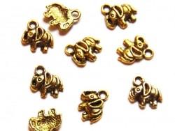 1 Elefantenanhänger - goldfarben