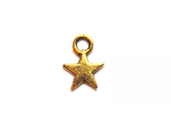 1 Breloque petite étoile - dorée  - 1