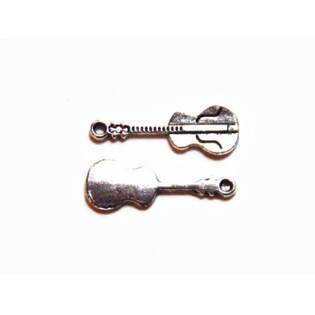 Acheter 1 Breloque guitare - argentée - 0,49€ en ligne sur La Petite Epicerie - Loisirs créatifs