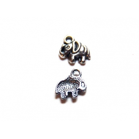 1 elephant charm - silver-coloured