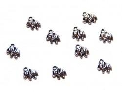 1 Breloque éléphant - argentée  - 3
