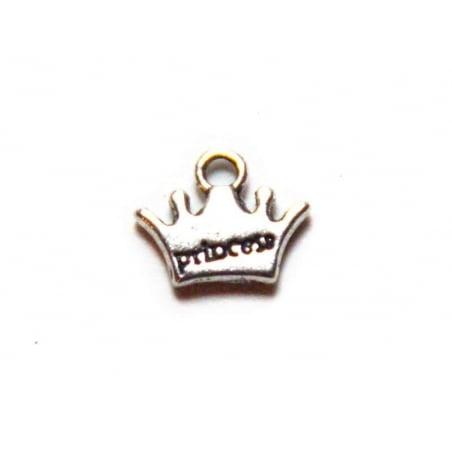 """Acheter 1 Breloque couronne """"princess"""" argentée - 0,39€ en ligne sur La Petite Epicerie - Loisirs créatifs"""