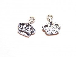 1 crown charm - silver-coloured