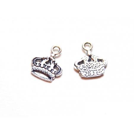 1 crown charm - silver-coloured