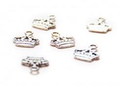 Acheter 1 Breloque couronne, argentée - 0,49€ en ligne sur La Petite Epicerie - Loisirs créatifs