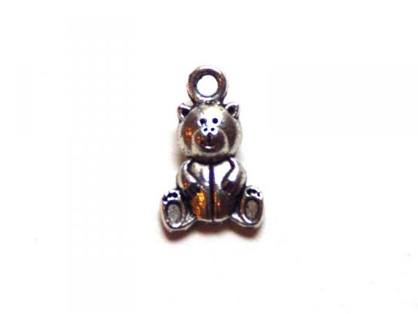 1 teddy bear charm - silver-coloured