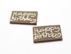 """1 Plättchen """"Happy Birthday"""""""