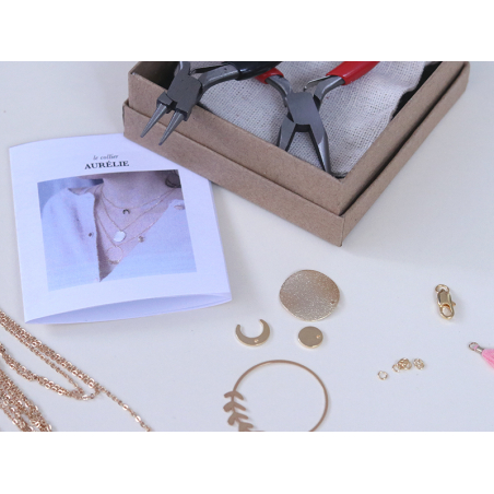 Acheter Collier multi-rangs Aurélie - Kit bijoux précieux dorés à l'or fin - 29,99€ en ligne sur La Petite Epicerie - Loisir...
