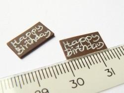 """Petite plaque pour gateau miniature """"Happy Birthday""""  - 3"""