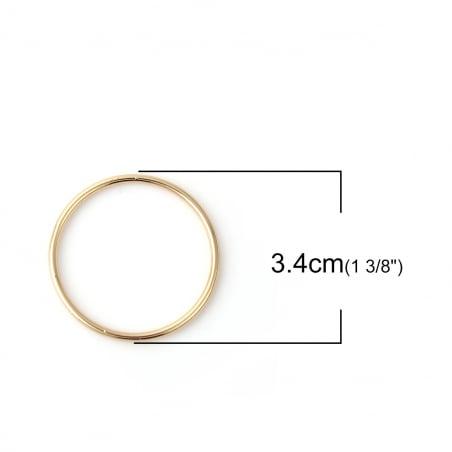 Acheter Anneau de jonction fermé doré - 34mm - 0,89€ en ligne sur La Petite Epicerie - Loisirs créatifs