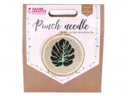 Kit punch needle - Feuille...