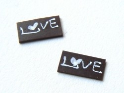 "1 ""Love"" chocolate decoration"