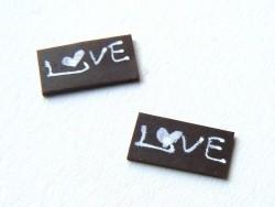"""Petite plaque pour gateau miniature """"Love"""""""