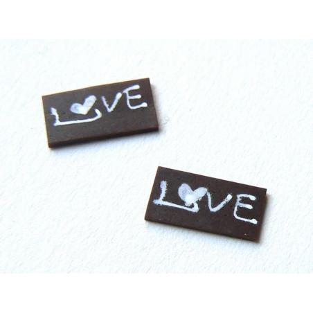 "1 ""Love"" chocolate decoration"