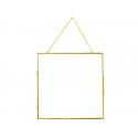 Cadre photo métal doré façon herbier à suspendre - carré