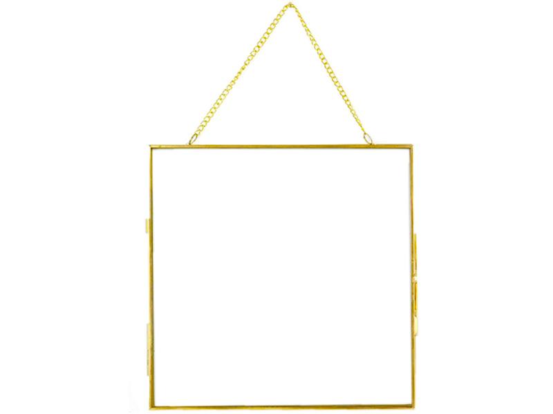 Acheter Cadre photo métal doré façon herbier à suspendre - carré - 12,49€ en ligne sur La Petite Epicerie - Loisirs créatifs