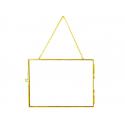 Cadre photo métal doré façon herbier à suspendre - rectangle