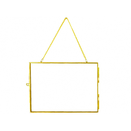 Acheter Cadre photo métal doré façon herbier à suspendre - rectangle - 11,49€ en ligne sur La Petite Epicerie - Loisirs créa...
