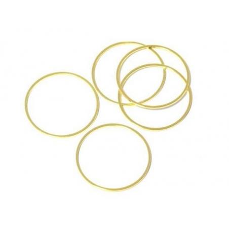 Acheter Anneau de jonction fermé laiton doré - 20 mm - 0,39€ en ligne sur La Petite Epicerie - Loisirs créatifs