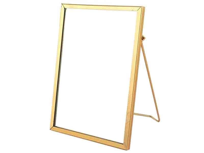 Acheter Cadre photo métal doré façon herbier à poser - rectangle - 7,49€ en ligne sur La Petite Epicerie - Loisirs créatifs